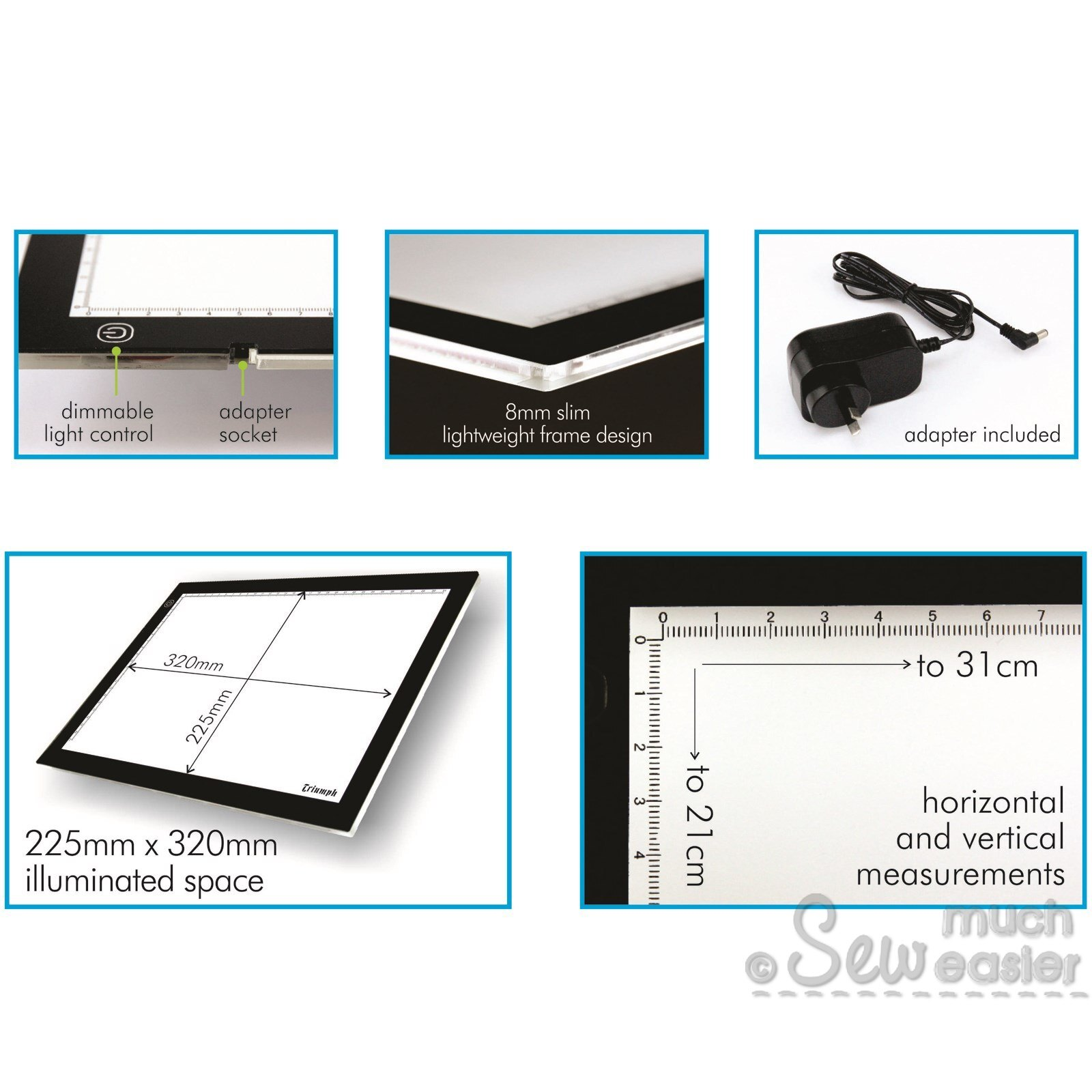 Triumph LED Light Pad A4 for Tracing