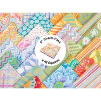 Pastel by Kaffe Fassett Collective - 5 inch Charm Pack