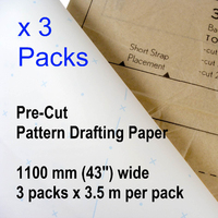 Patternmaking Paper Dot and Cross - 3 packs