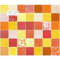 Moda Simply Colourful by V and Co - Red Orange Yellow - Charm Pack