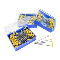 Stainless Steel Yellow Head Quilting Pins x 3 Packs