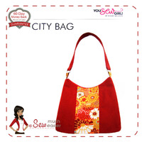 City Bag Pattern by You Sew Girl