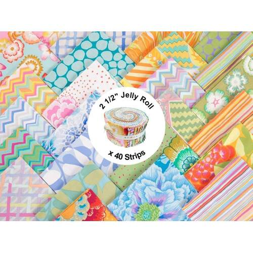 Pastel by Kaffe Fassett Collective - Design Roll (Jelly Roll)