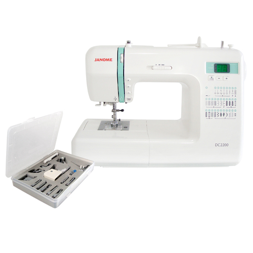 Janome DC2200 Sewing Machine + 15-Piece Presser Feet Set