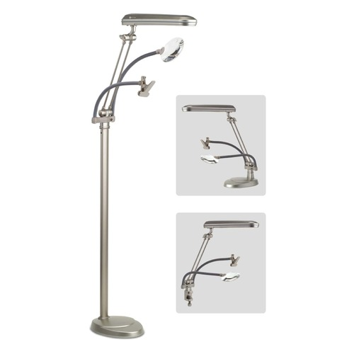 Lite Floor Lamp 3 in 1 with Clamp and Magnifier
