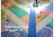 How to Quilt Straight Line without a Guild