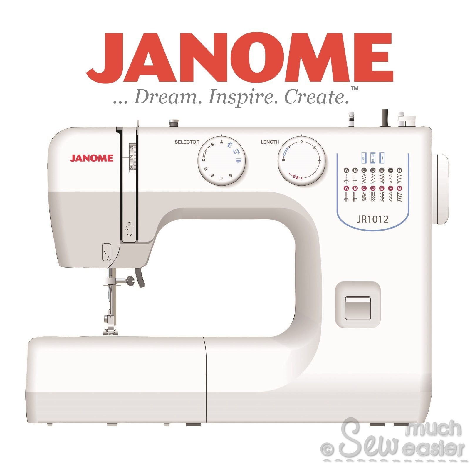 Janome Jr1012 Basic Mechanical Sewing Machine For Beginners Brother Parts Diagram