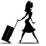 airhostess with suitcase